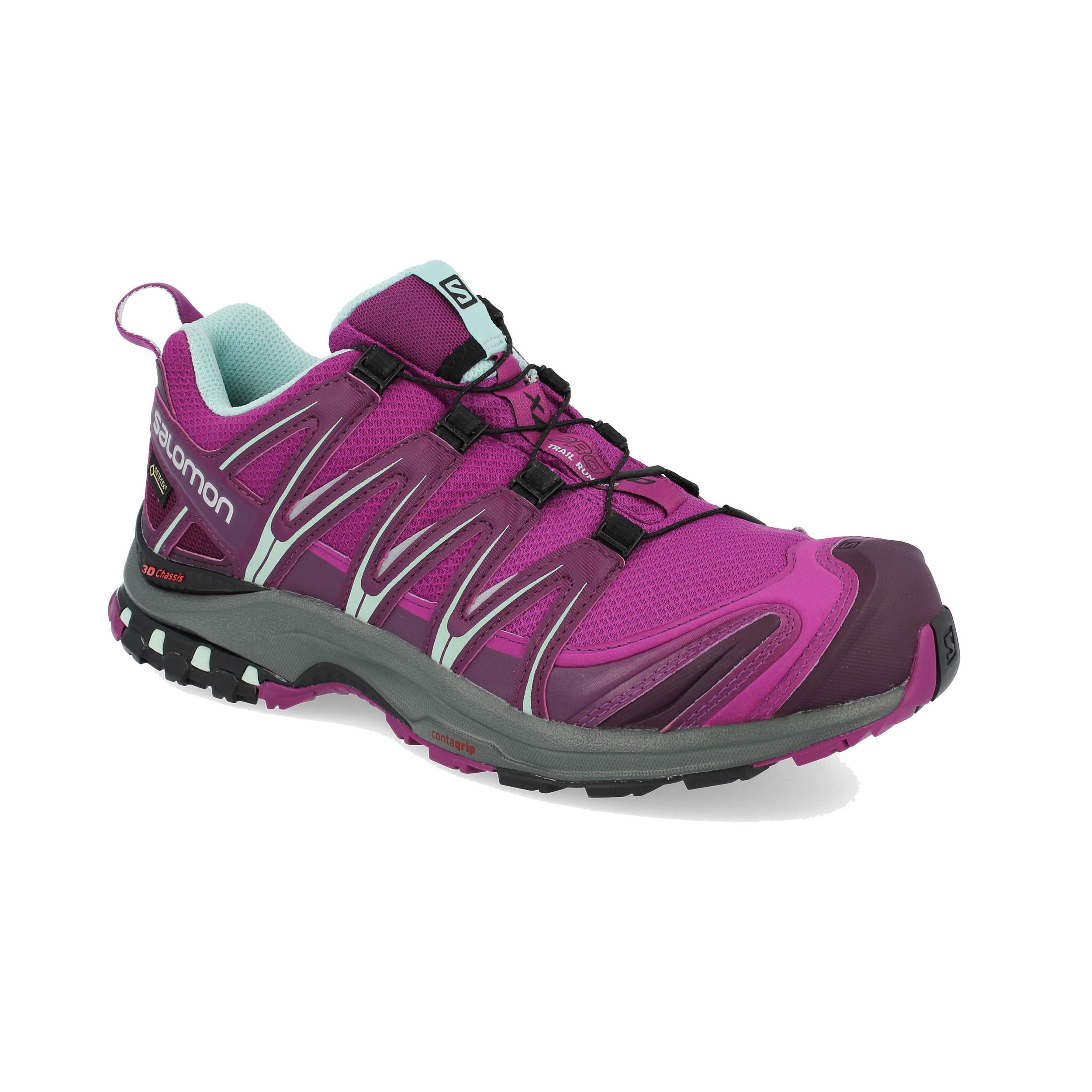 dd9a0f99302 Salomon Mujer Xa Pro 3d Gtx Sendero Correr Zapatos Zapatillas Violeta  Deporte