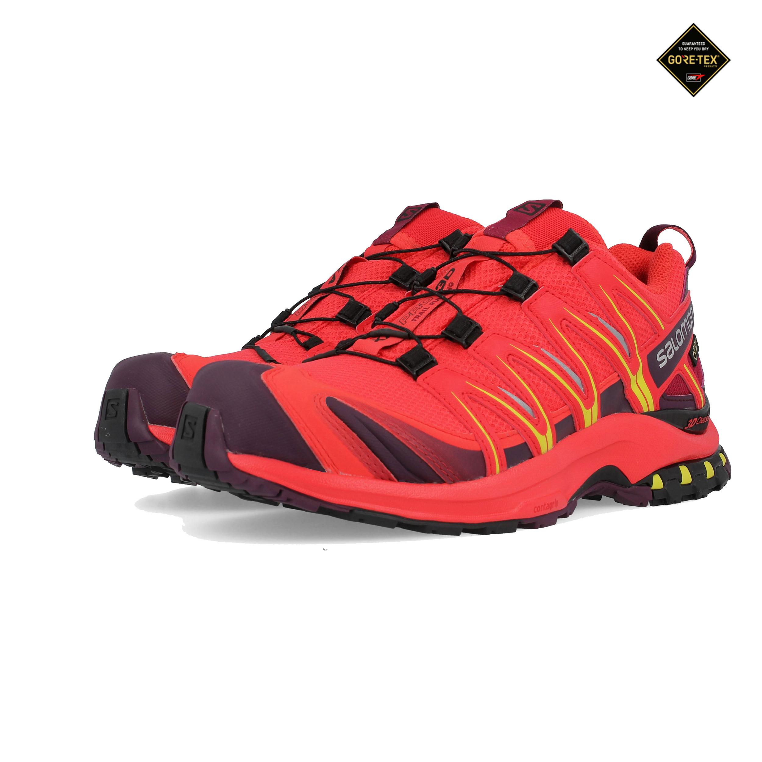 Salomon Femme Trail Shoes Titre Xa Gtx Running Sur Rouge Afficher Sport Pro D'origine 3d Trainers Détails Le Sneakers 4LA35jR