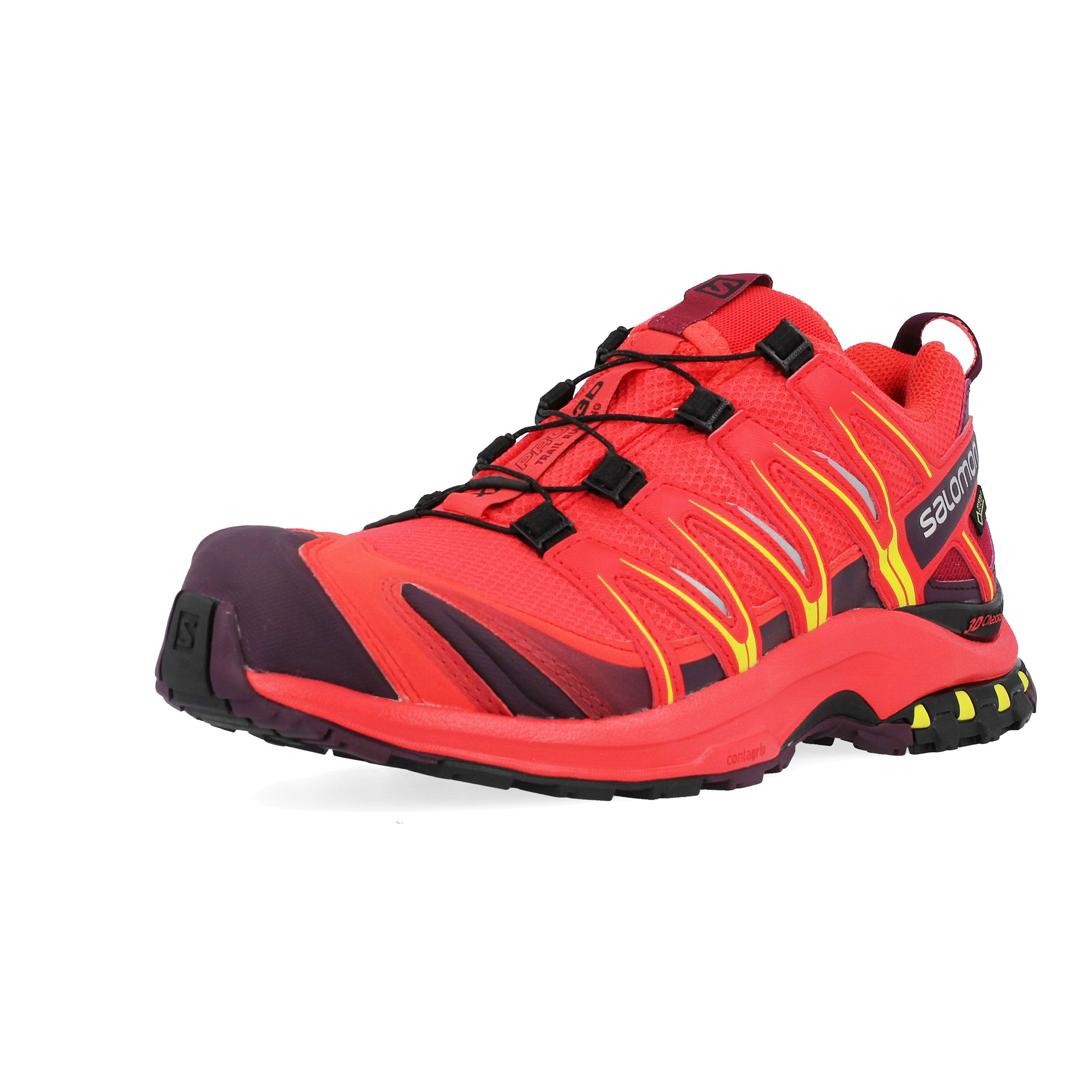 69299f226a11 Details about Salomon Womens XA Pro 3D GTX Trail Running Shoes Trainers Sneakers  Red Sports