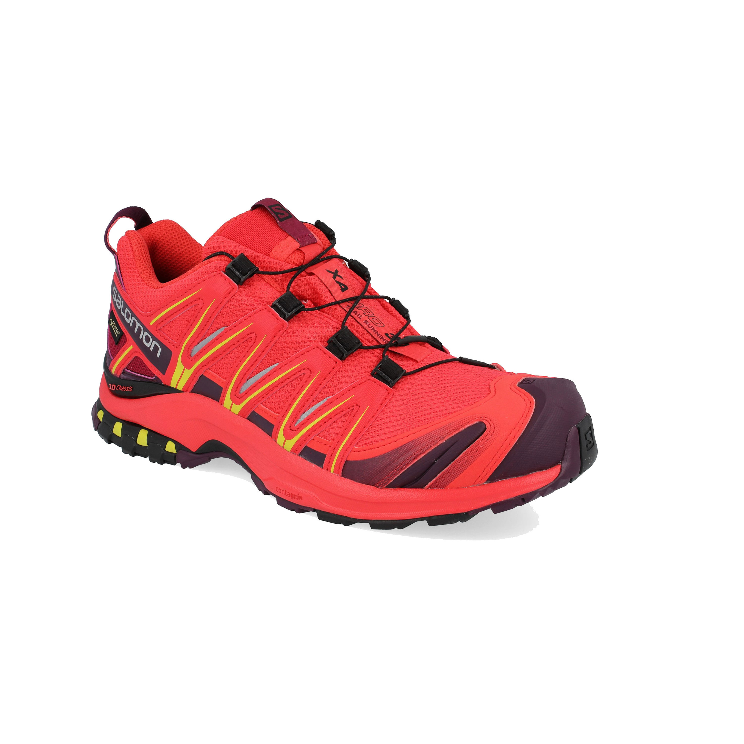 75a2a0094638 Salomon Womens XA Pro 3D GTX Trail Running Shoes Trainers Sneakers Red  Sports