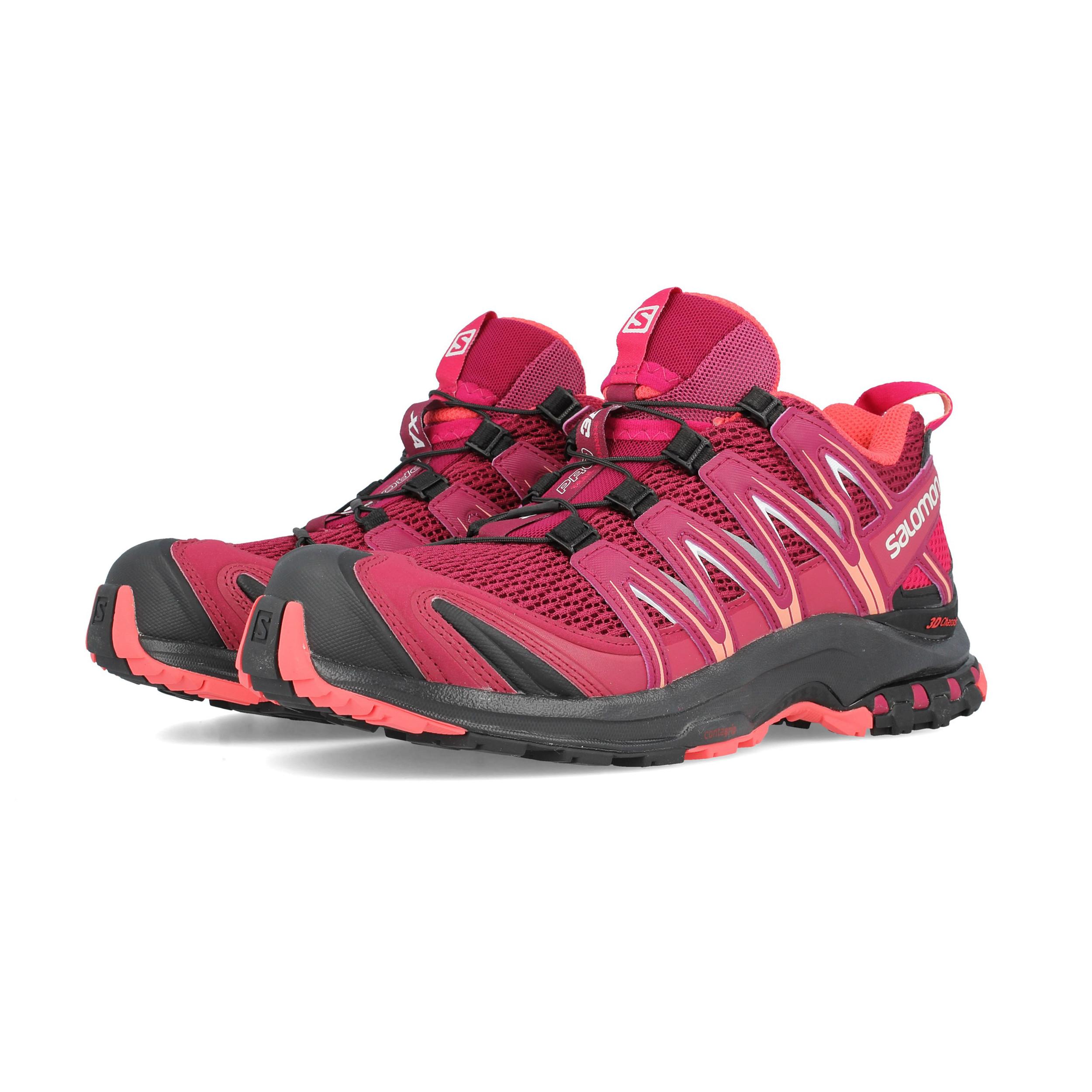 Correr De Zapatillas Rojo Running 3d Sendero Pro Zapatos Xa Detalles Deporte Salomon Mujer 35A4RqjL