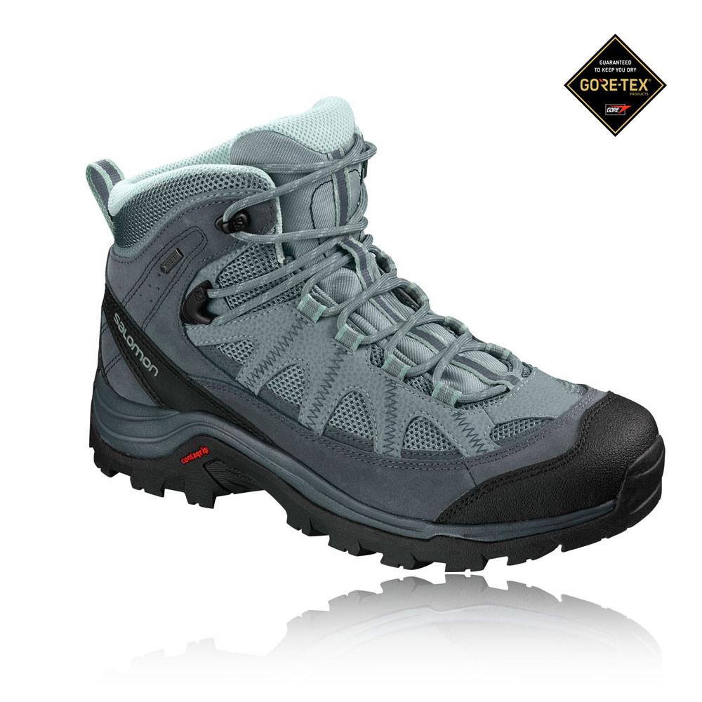 b0d752ba Details about Salomon Womens Authentic LTR GORE-TEX Walking Boots Blue Grey  Sports Outdoors