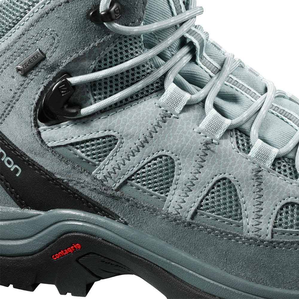 Salomon Womens Authentic LTR GORE-TEX Walking Boots Blue Grey Sports  Outdoors 56df5cd9341