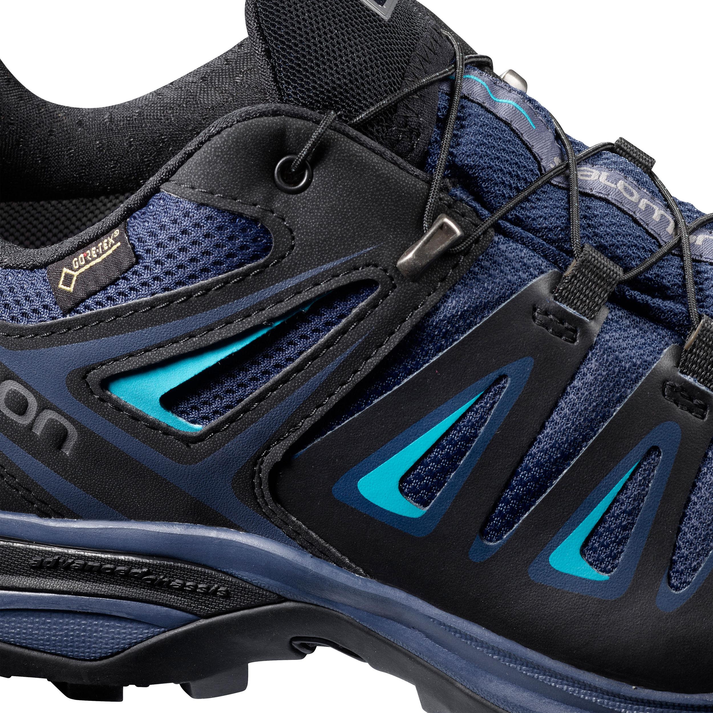 2fa0678f4b9 Salomon Femmes X Ultra 3 Gore-Tex Chaussure De Marche Randonnée Bleu Marine