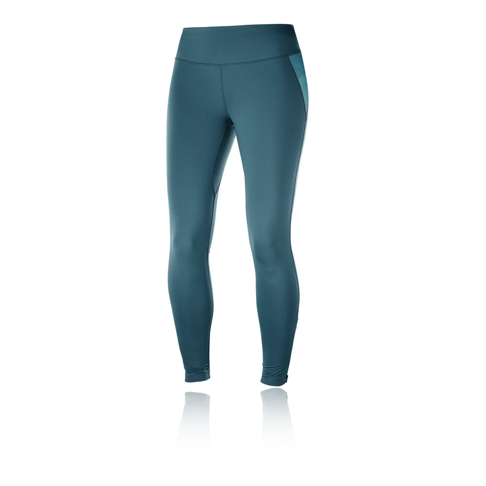 dc27f76048f2 Salomon Womens Agile Warm Running Tights Bottoms Pants Trousers Green Sports