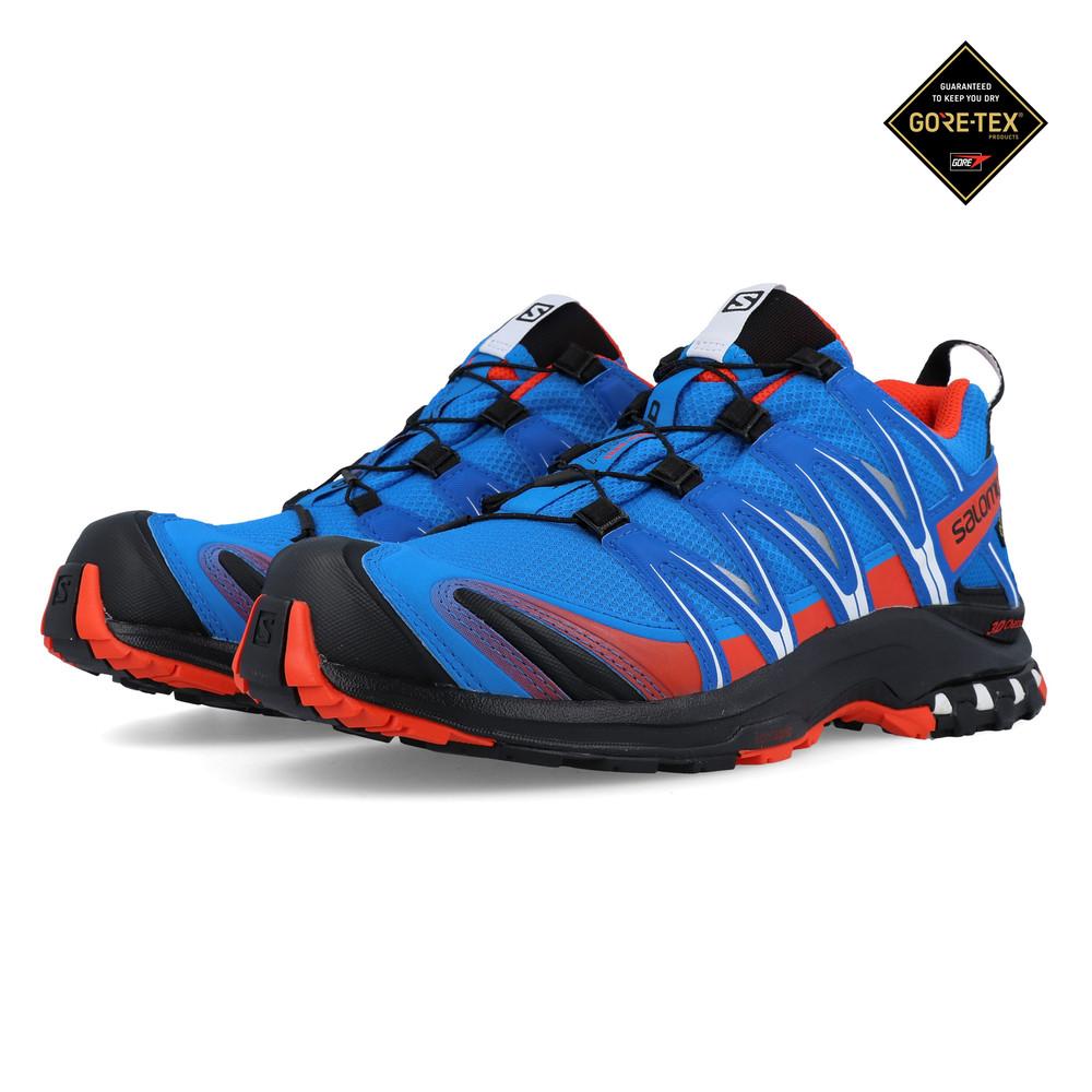 Details zu Salomon Herren XA PRO 3D GORE TEX Trail Outdoorschuhe Laufschuhe Sneaker Blau