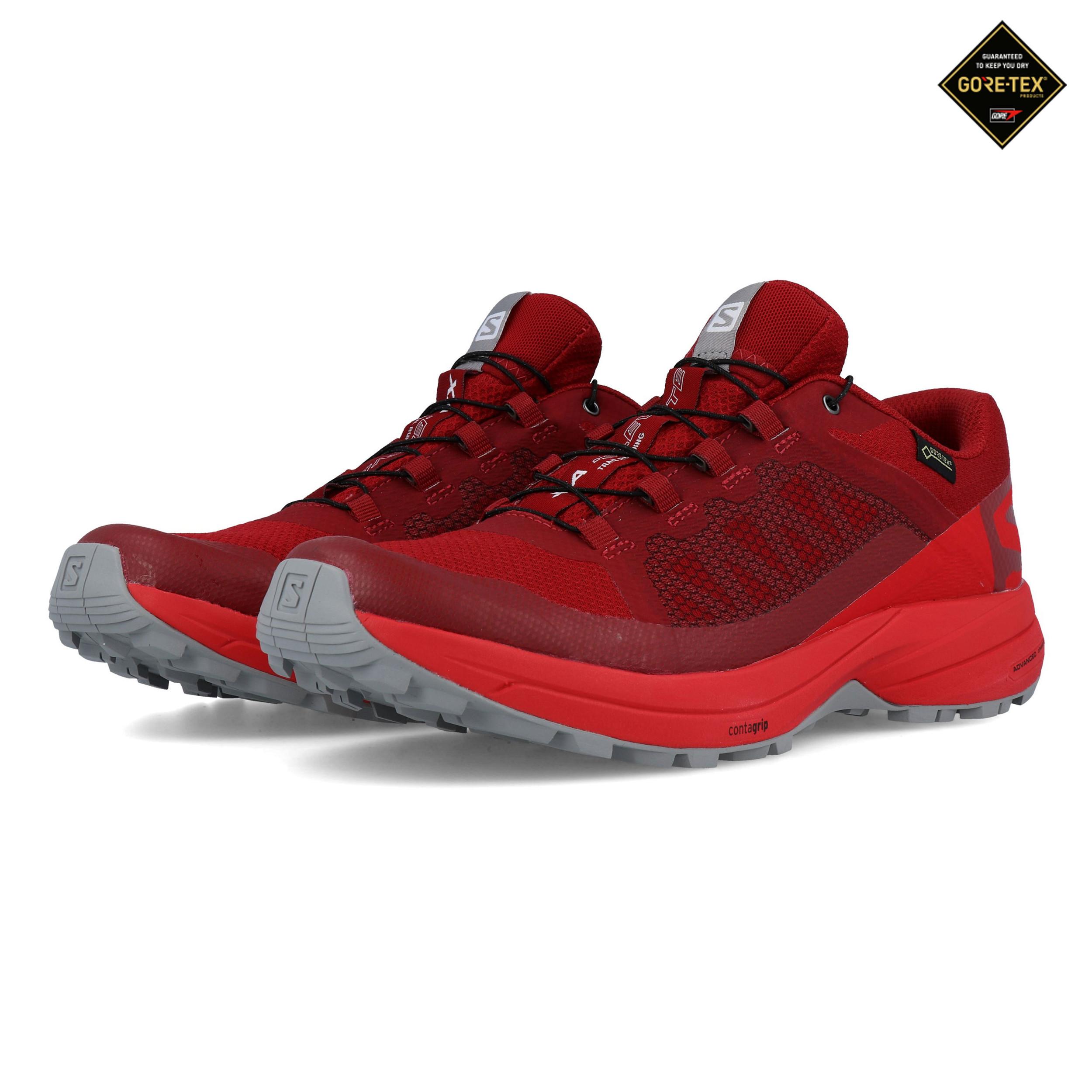 new products a2e76 b25cf Details zu Salomon Herren XA Elevate GORE TEX Trail Outdoorschuhe  Laufschuhe Sneaker Rot