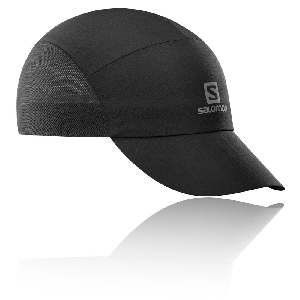 Details about Salomon Unisex XA Compact Running Cap Black Sports Breathable  Lightweight 8332fcadc79