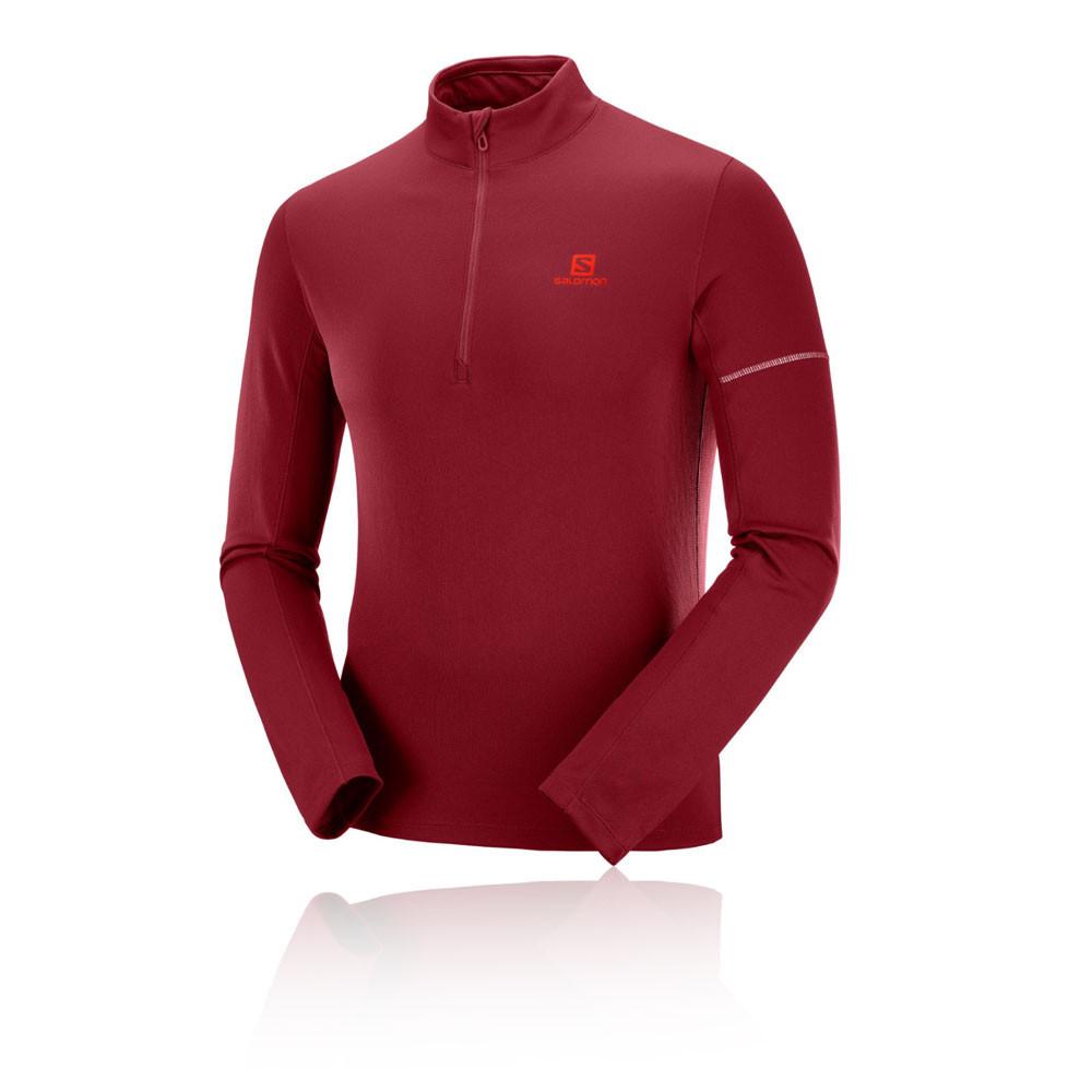 Nike WOMEN/'S elemento Mezza Zip Running Shirt rimanere al Caldo Top