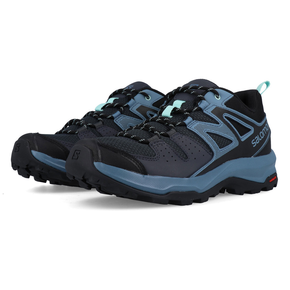 Salomon Womens X Radiant Walking Shoes Blue Navy Sports Outdoors Water Resistant