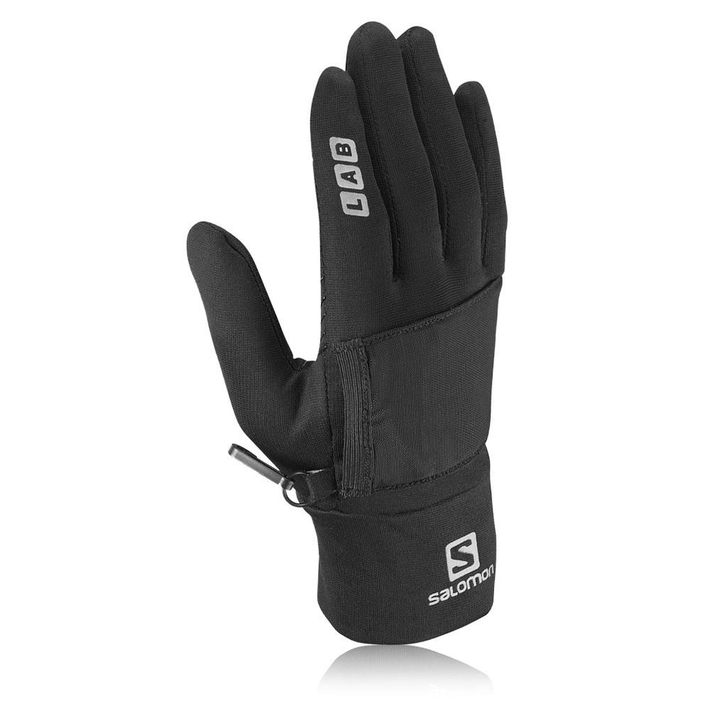 salomon s lab gants de sport chauds noirs course pied hommes running jogging ebay. Black Bedroom Furniture Sets. Home Design Ideas