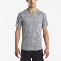 Saucony Negative-Split Jacquard Short Sleeve Running Top - AW18