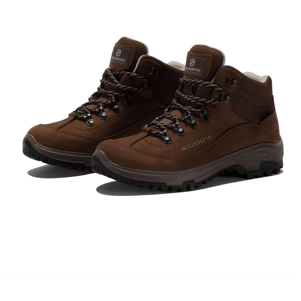 0aa8306eba7 Details about Scarpa Cyrus Womens Brown Water Resistant Gore Tex Camping  Hiking Boots Shoes