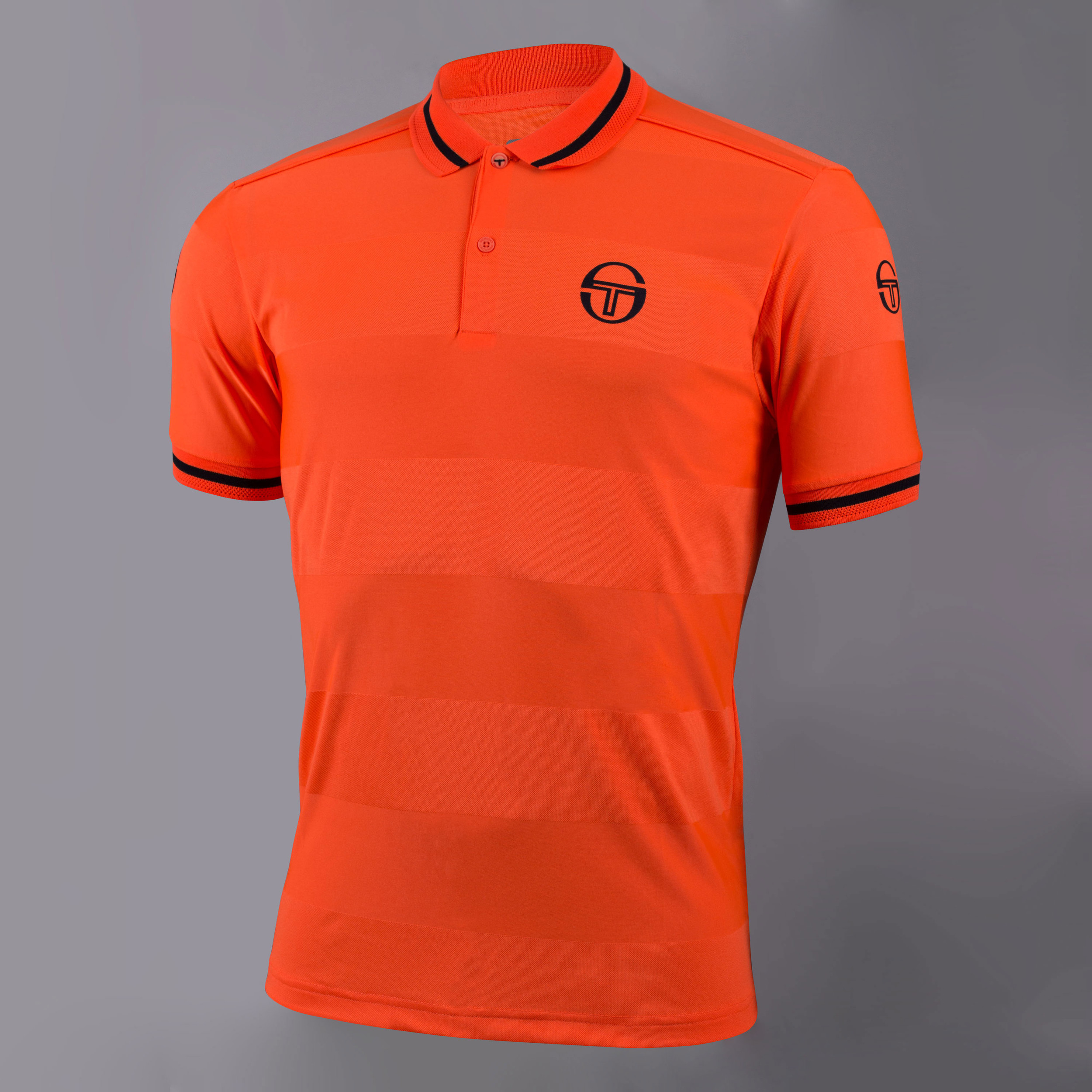 222cfd5d153 Details about Sergio Tacchini Mens Retro Polo Orange Sports Tennis  Breathable Lightweight