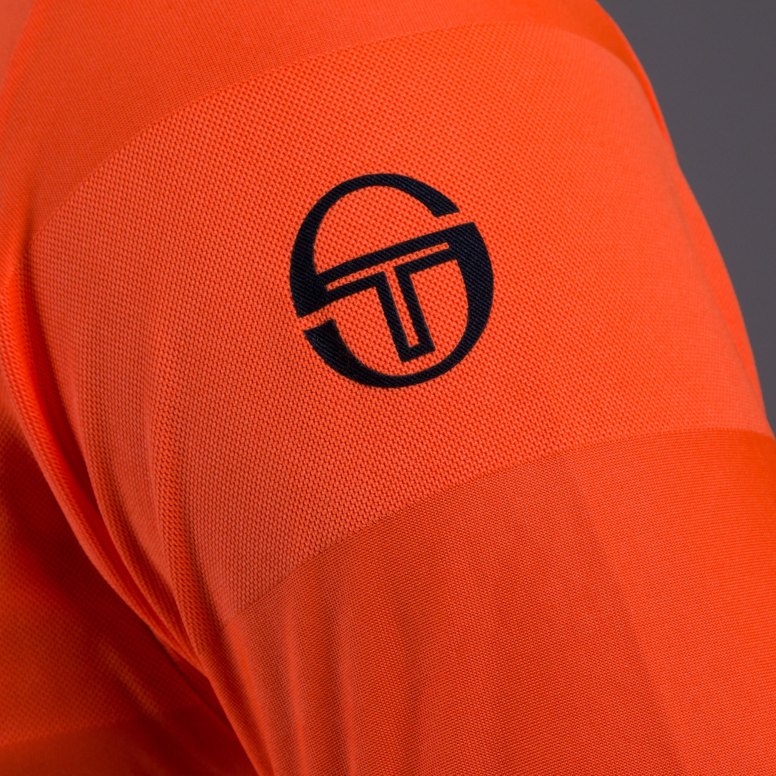 Sergio Tacchini Mens Retro Polo White Sports Tennis Breathable Lightweight