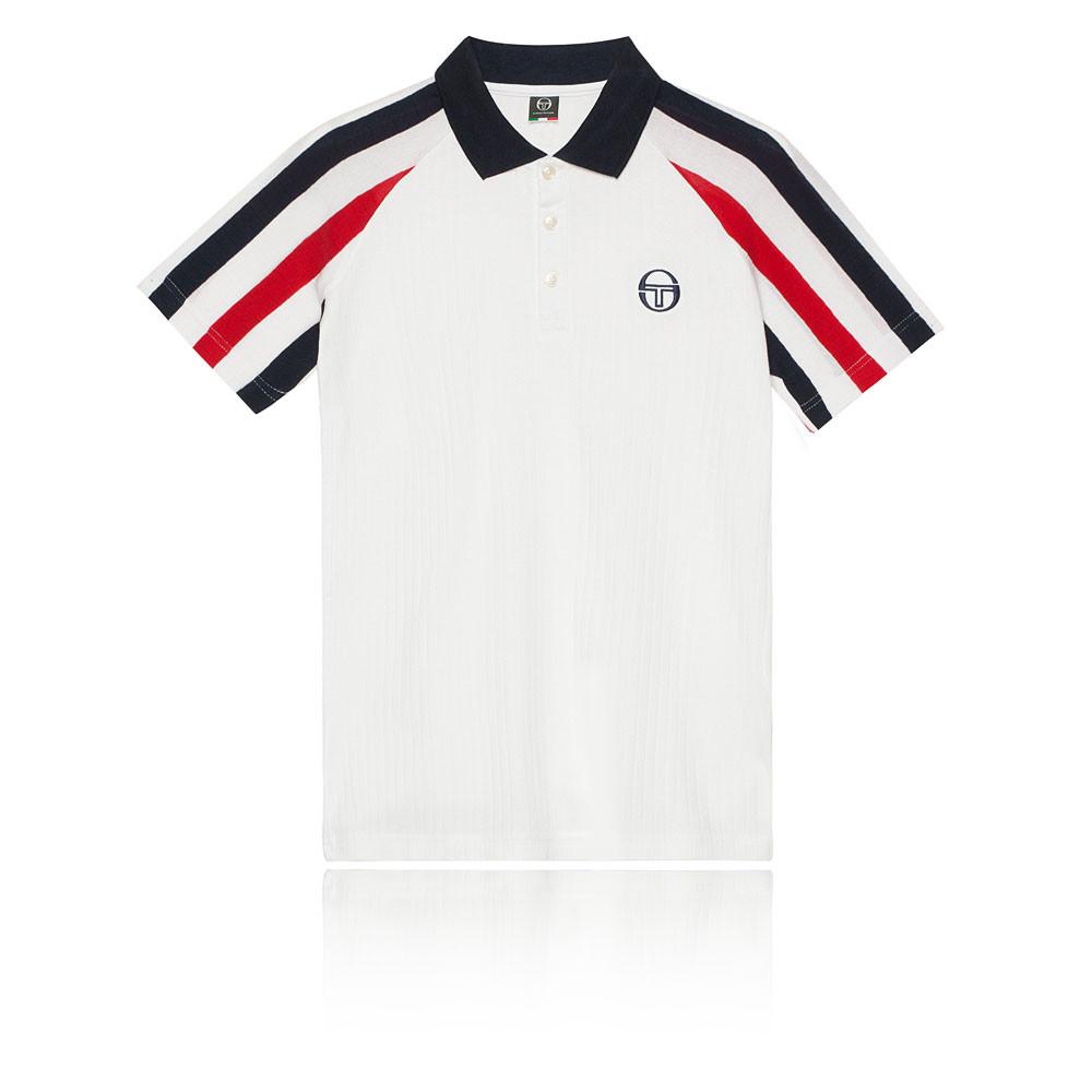 8bc5df531c0 Sergio Tacchini Homme Blow Archivio T-Shirt Polo Tennis Sport Manche Courte  Bleu