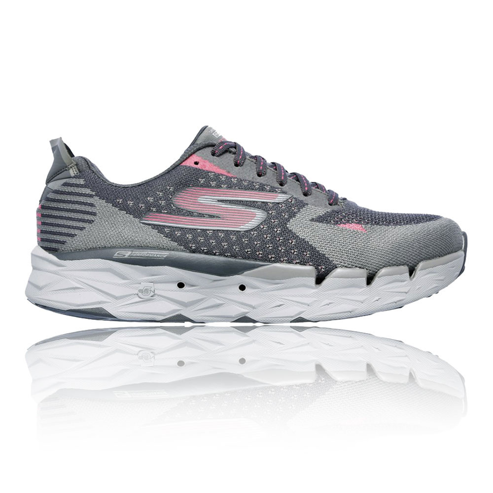 136728db32e7 Skechers Womens Grey Pink Go Run Ultra R 2 Running Sports Shoes Trainers