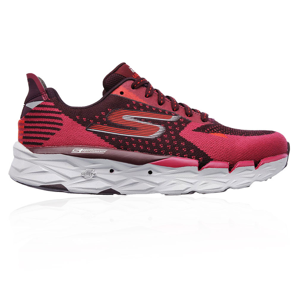 8f34638c76eb Details about Skechers Womens Go Run Ultra R 2 Running Sports Shoes  Trainers Pink Red