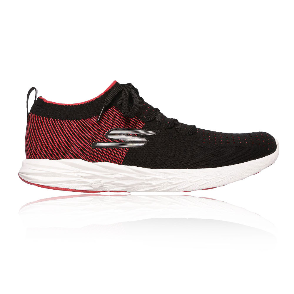 e704353ed708 Skechers Mens Go Run 6 Running Shoes Trainers Sneakers Black Red Sports