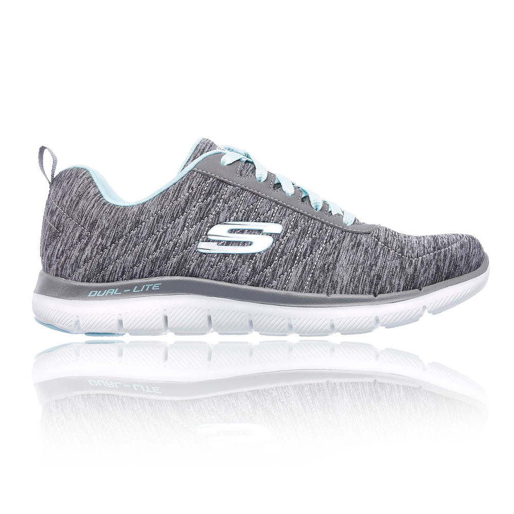 15de550434be Details about Skechers Womens Flex Appeal 2.0 Running Shoes Trainers  Sneakers Grey Sports