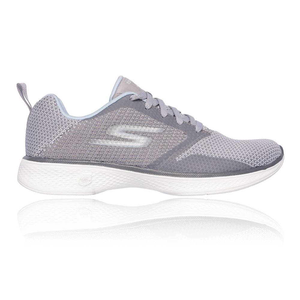 Skechers Mujer Go Caminar 4 Edge Zapatos Gris Deporte Exterior Transpirable