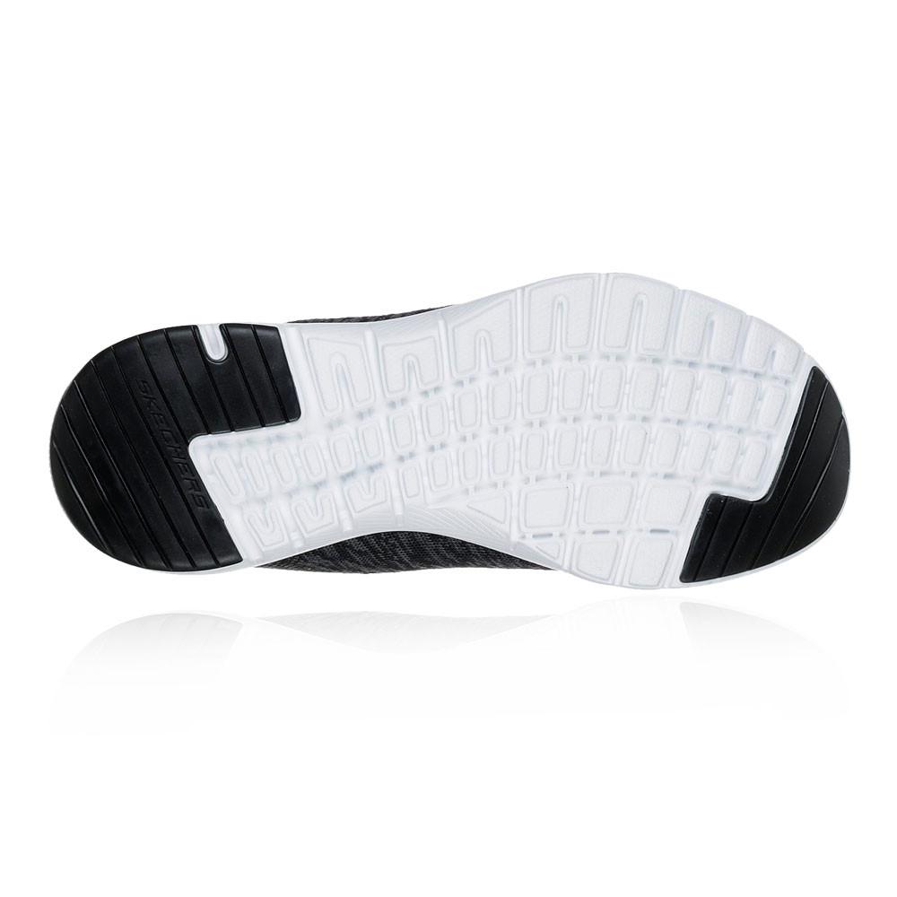 Détails sur Skechers Femmes Flex Appeal 3.0 Entraînement Gym Baskets Sport Chaussures Noir