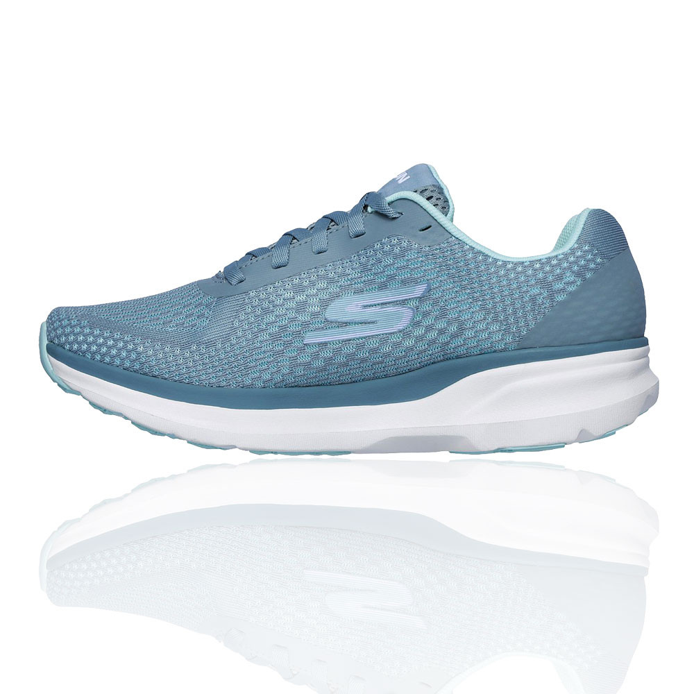 Details about Skechers Womens GOrun Pure Running Shoes Trainers Sneakers Blue White Sports