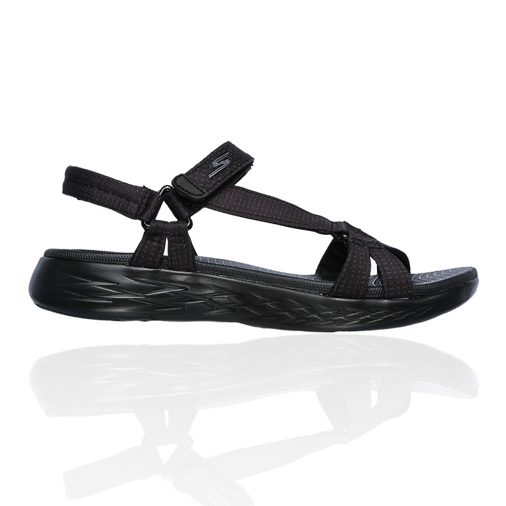 Details about Skechers Womens On The Go 600 Brilliancy Sandal Black Sports Outdoors Breathable