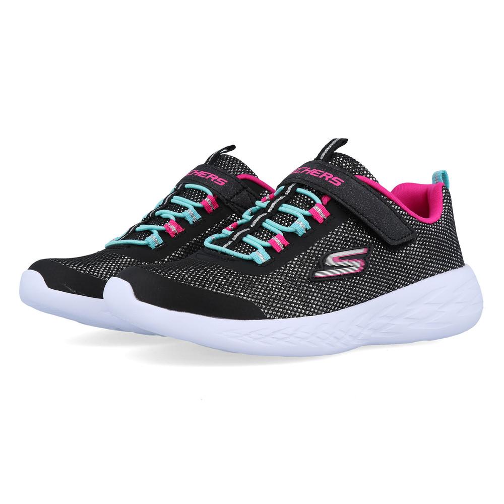 Skechers Junior GOrun 600 Sparkle Runner Shoes Black Pink Sports Running