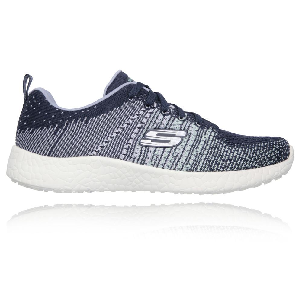 Skechers-Burst-Ellipse-Mujer-Blanco-Azul-Running-Deporte-Zapatos-Zapatillas