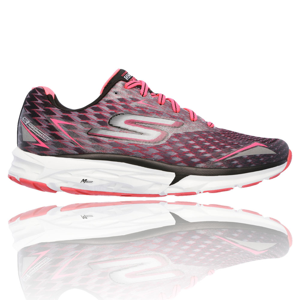 4fa77bd4d748c Details about Skechers Go Run Forza 2 Womens Pink Black Running Road Sports  Shoes Trainers