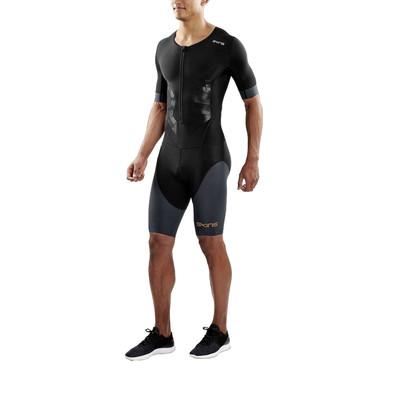 Skins DNAmic Triathlon Short Sleeve Compression Skin-Suit with Front Zip