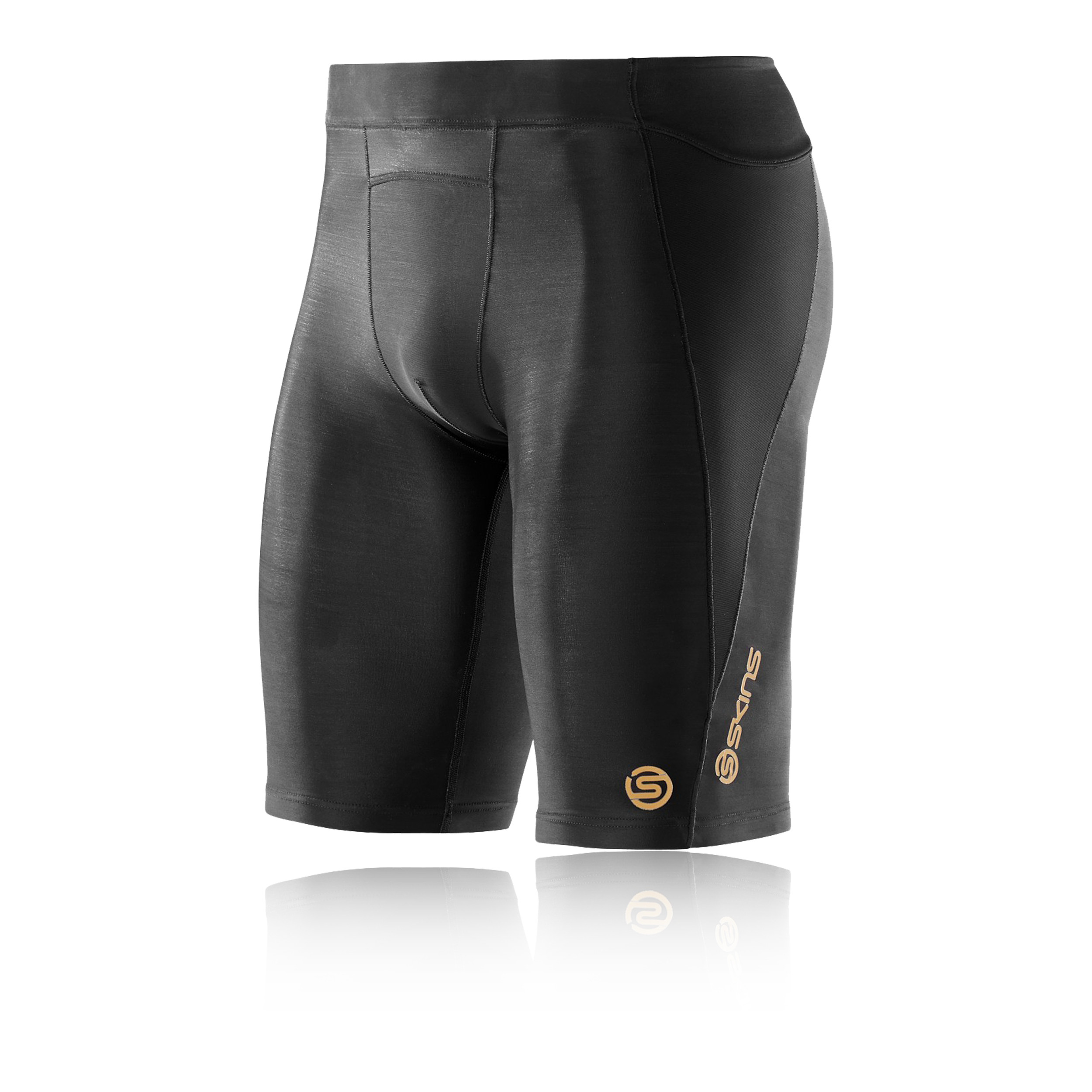 Skins Womens DNAmic Core Shorts Pants Trousers Bottoms Black Sports Gym Running