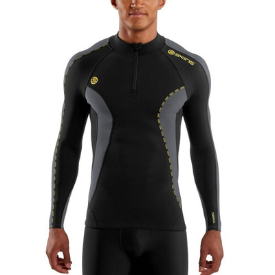 Skins DNAmic Thermal Mock Neck Half Zip Baselayer Top
