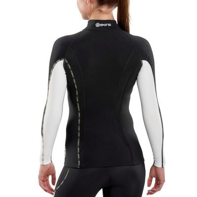 Skins DNAmic camiseta de manga larga Termal con cuello alto 1/2 cremallera para mujer- AW17