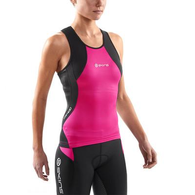 Skins TRI400 femmes compression Triathlon Racer Back Top