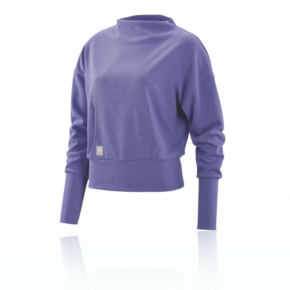Skins Activewear Women's Wireless Sport Fleece Crew Neck Top