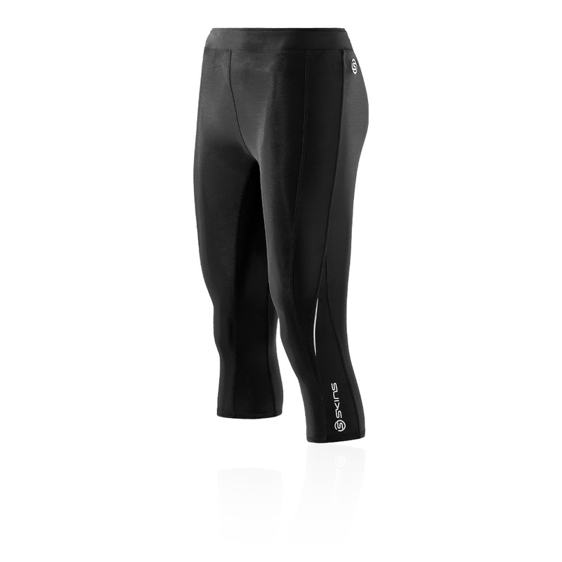 Skins Damen Bio A200 Kompression Leggings Jogginghose Hose Schwarz Sport