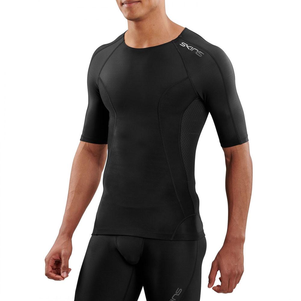Skins Homme dnamic Ultime à manches courtes Femme Noir Sport Gym Respirant