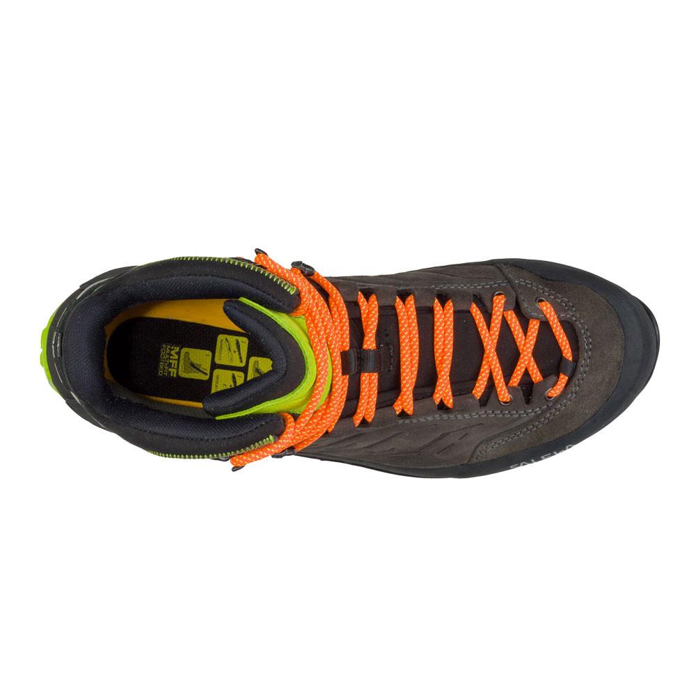 df56a53d Salewa Hombre Mountain Trainer Mid Gore-tex Caminar Botas Negro Gris Deporte