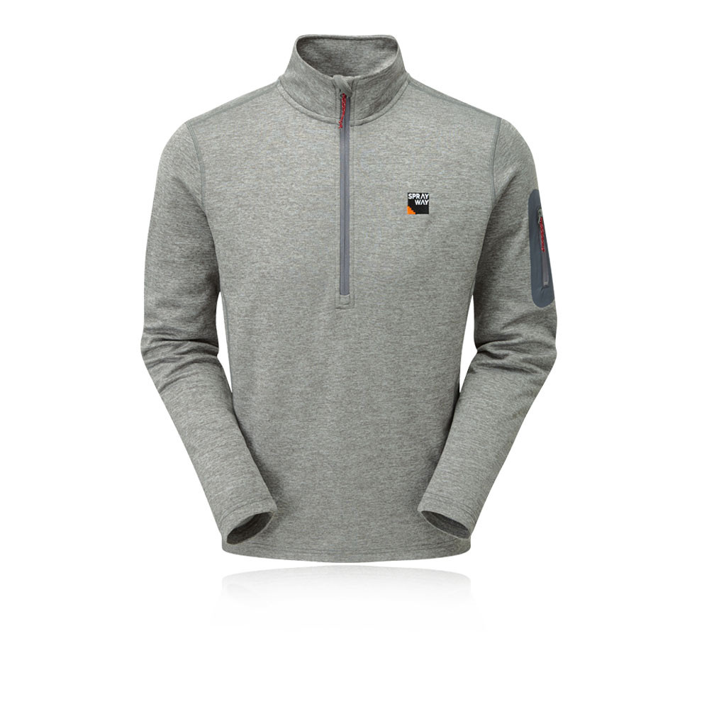 Sprayway Mens Saul Half Zip Sweatshirt Grey Sports Outdoors Breathable