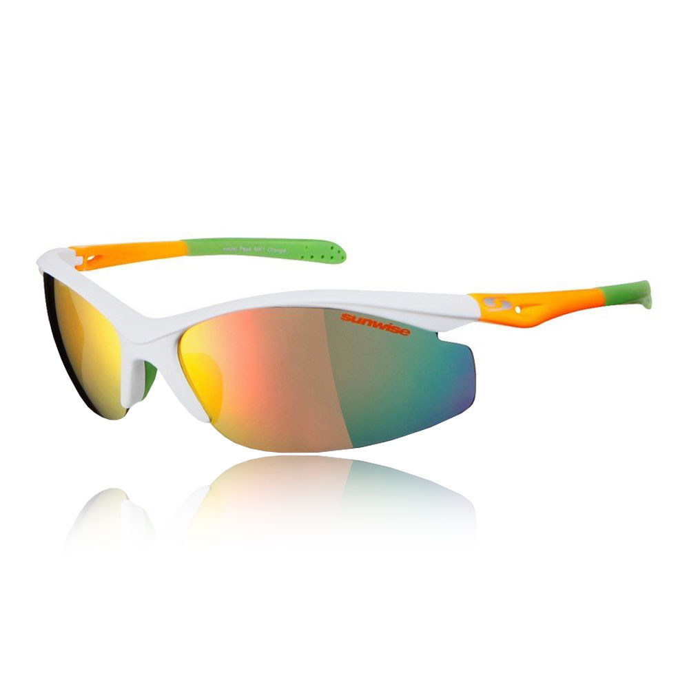 White Green Sports Sunwise Unisex Kennington Interchangeable 4 Sets Of Lenses