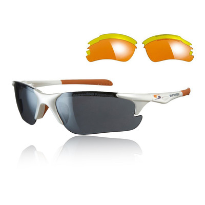 Sunwise Twister Sunglasses Interchangeable 3 Sets Of Lenses - White - SS19