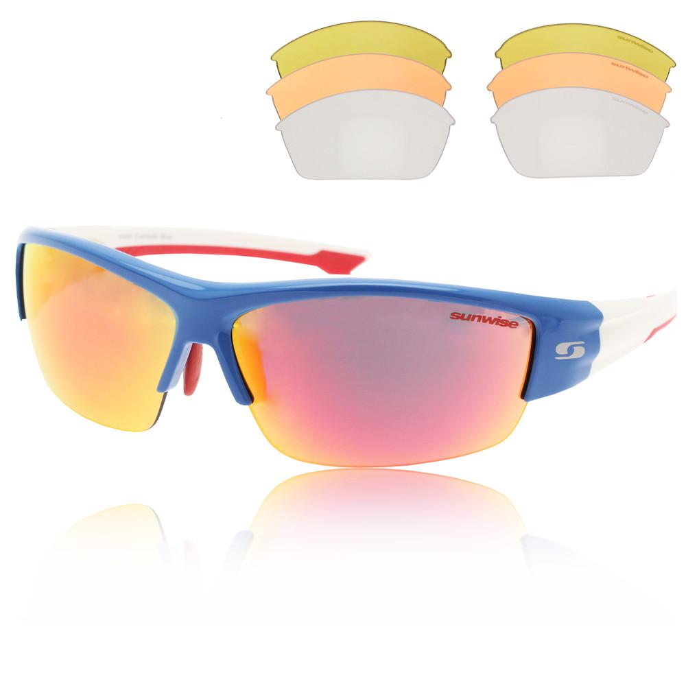 Sunwise Evenlode Interchangeable 4 sets of Lenses - Blue