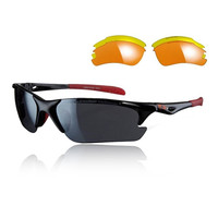 Sunwise Twister Sunglasses Interchangeable 3 Sets Of Lenses - Black - AW18