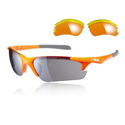 Sunwise Twister Sunglasses Interchangeable 3 Sets Of Lenses - Orange - SS20