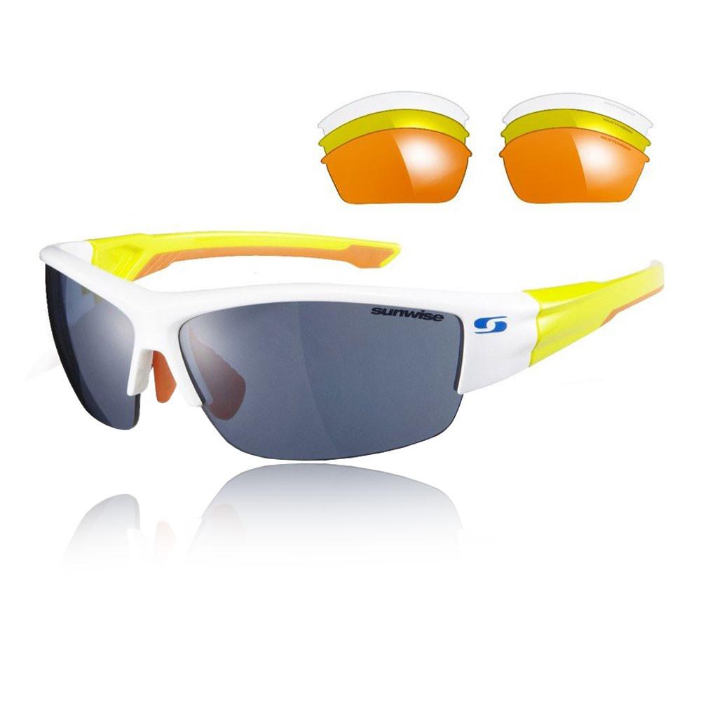 Sunwise Evenlode Interchangeable 4 Sets Of Lenses - White