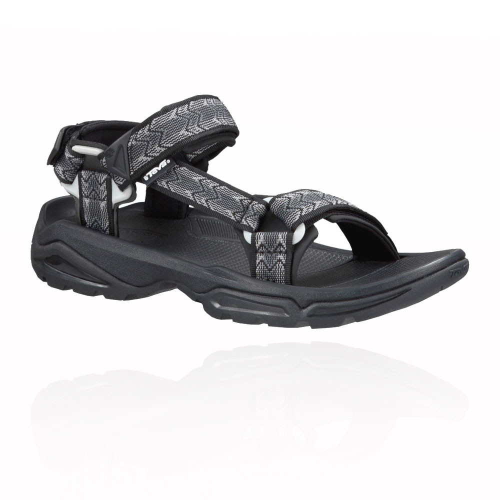 4fb933ac0 Details about Teva Terra FI 4 Mens Grey Black Walking Outdoors Sandals  Summer Shoes