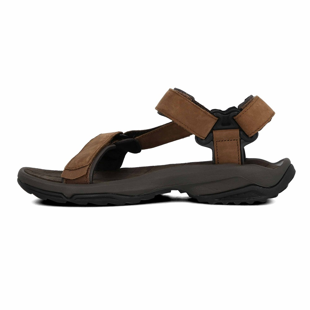 teva terra fi lite herren leder trekkingsandalen sandalen wanderschuhe braun ebay. Black Bedroom Furniture Sets. Home Design Ideas