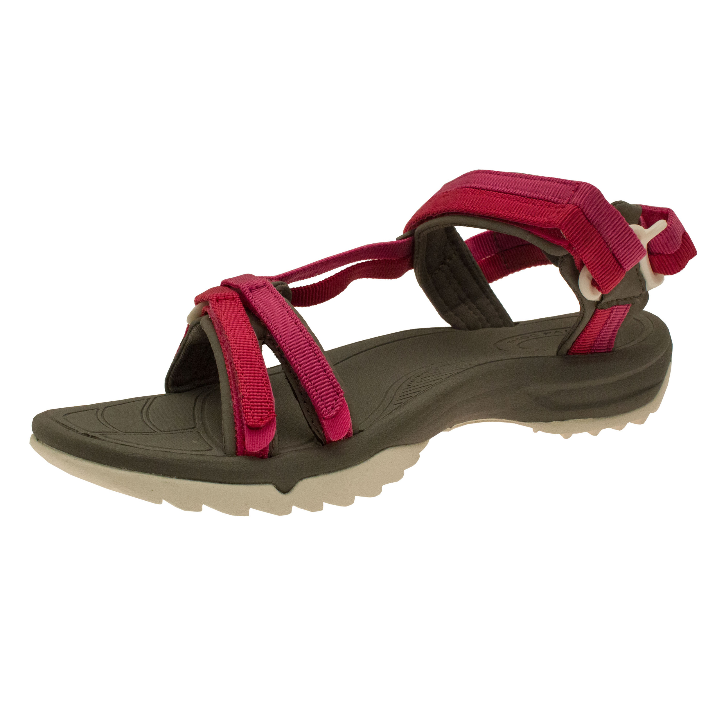 teva terra fi lite damen trekkingsandalen wanderschuhe sandalen grau rosa ebay. Black Bedroom Furniture Sets. Home Design Ideas